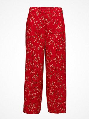 Notes du Nord röda byxor med tryck Hanna Pants