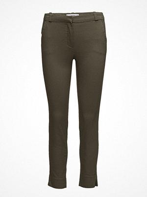 Mango omönstrade byxor Crop Slim-Fit Trousers