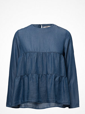 Mango Ruched Detail Soft Fabric Blouse