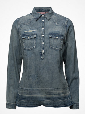 Scotch & Soda Denim Blouse With Over-Dye