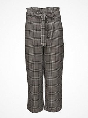 Second Female grå rutiga byxor Camber Hw Trousers