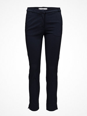 Mango svarta byxor Crop Slim-Fit Trousers