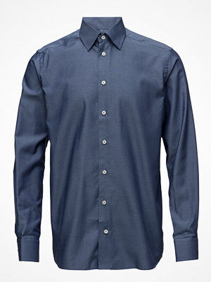 Eton Navy Pinpoint Button-Under Shirt