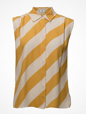 Mango Flowy Striped Blouse