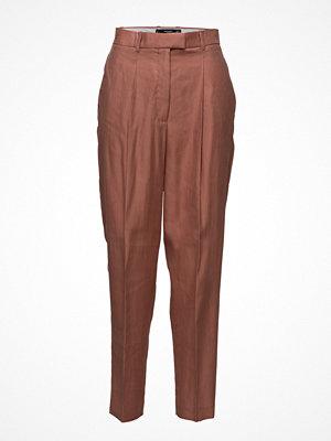 Mango omönstrade byxor Modal Baggy Trousers