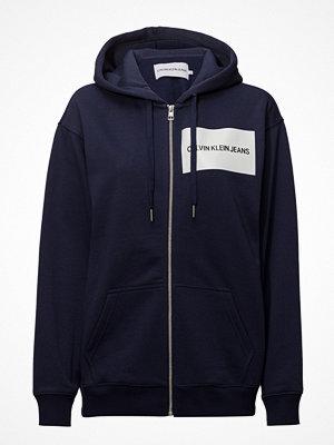 Calvin Klein Jeans Institutional Box Logo Zip Up Hoodie