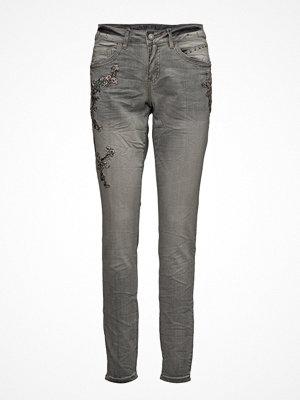 Cream Bird Jeans - Bailey Fit-Straight Le