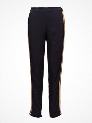 Saint Tropez svarta byxor Pants With Striped Details