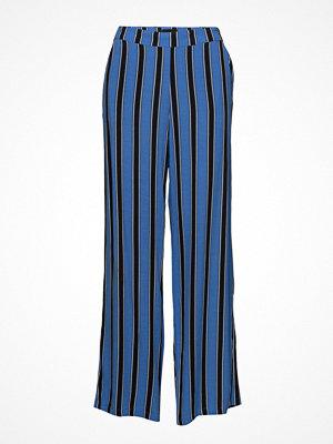 Pulz Jeans blå randiga byxor Nena Pant