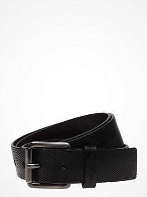 Bälten & skärp - Calvin Klein J Leather Embossed Belt 3.5cm