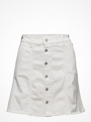 Mango Buttoned Denim Skirt