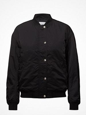 Calvin Klein Jeans svart bomberjacka Snap Button Nylon Bomber
