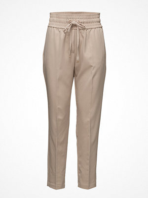 Mango omönstrade byxor Ruched Waist Trousers