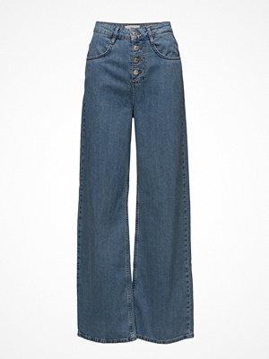 Mango omönstrade byxor Jeans Flare Wideleg