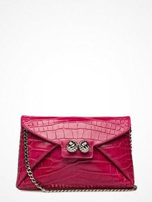 Leowulff röd mönstrad kuvertväska Heather Bag