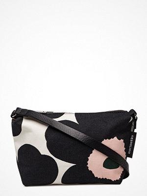 Marimekko svart axelväska med tryck Heli Pieni Unikko Shoulder-Bag