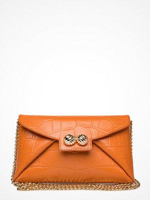 Leowulff orange mönstrad kuvertväska Heather Bag