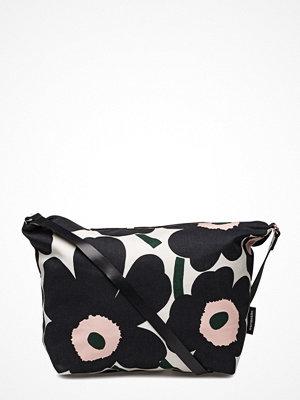 Marimekko svart axelväska med tryck Maria Pieni Unikko Shoulder-Bag