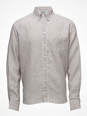 Eton Brown Striped Linen Shirt