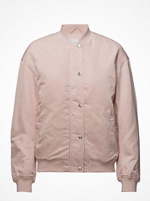 Calvin Klein Jeans ljusgrå bomberjacka Snap Button Nylon Bomber