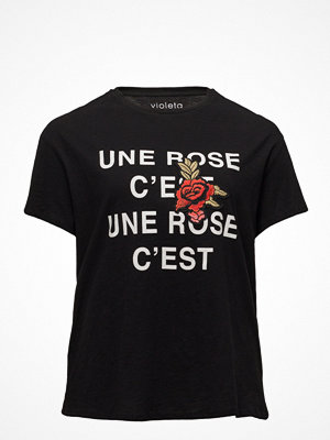 Violeta by Mango Embroidered Message T-Shirt