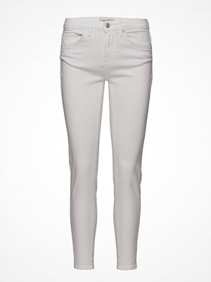 Selected Femme Sfida Mw Cropped Jeans White