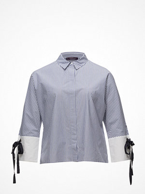 Violeta by Mango Bow Fine-Stripe Shirt