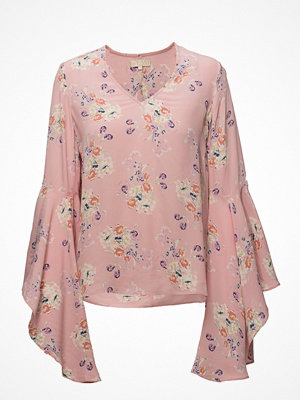 by Ti Mo Flared V-Neck Blouse