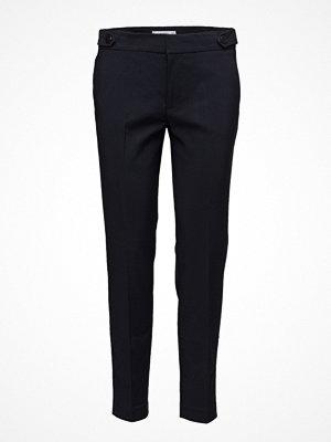 Mango svarta byxor Cropped Button Pants