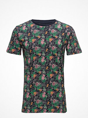 Knowledge Cotton Apparel T-Shirt W/ Flower Aop - Gots