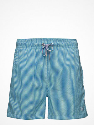Badkläder - Gant Seersucker Swim Shorts Classic Fit
