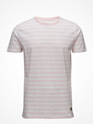 T-shirts - Lindbergh Y/D Striped O-Neck Tee S/S