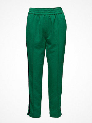 Scotch & Soda gröna byxor Tailored Pants With Velvet Side Tapes