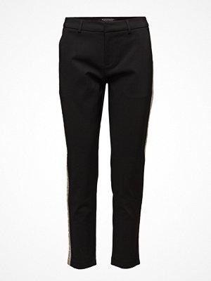 Scotch & Soda svarta byxor Tailored Stretch Pants With A Contrast Side Panel