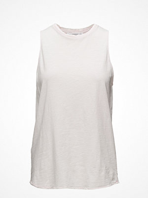 Mango Frayed Neck Top