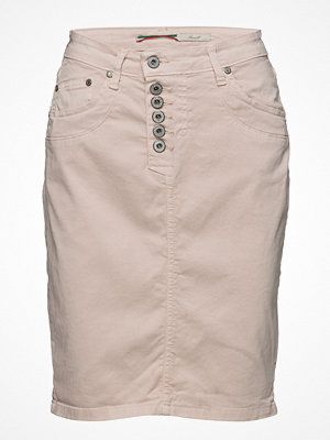 Please Jeans Skirt Long Scarlet Alert