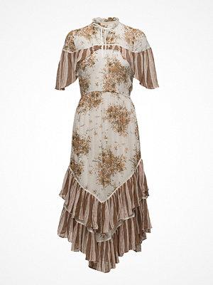 by Ti Mo Delicate Semi Couture Cape Dress