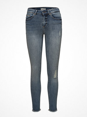 Only Onlblush Mid Sk Ank Raw Jeans Rea333noos