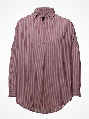 French Connection Bega Stripe Dip Hem Shirt