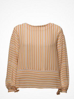 Mango Striped Bow Blouse