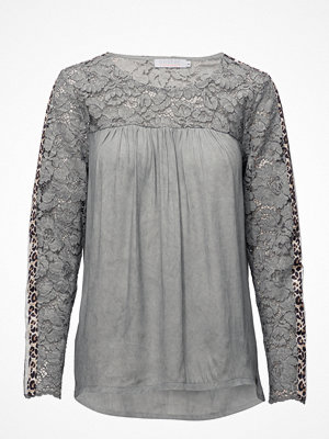 Coster Copenhagen Blouse W. Lace And Leopard Stribe