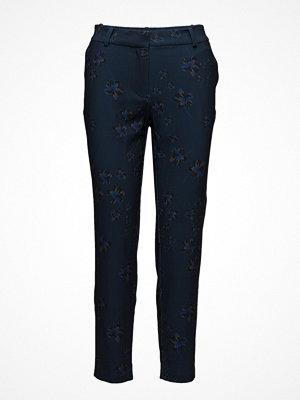 2nd One marinblå byxor med tryck Carine 881 Pants