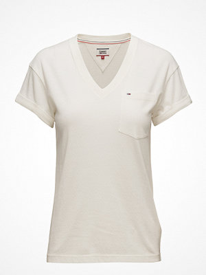 Tommy Jeans Tjw Solid V-Neck Tee