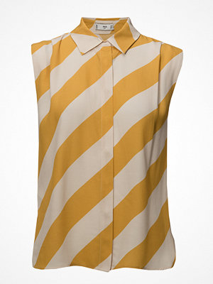 Mango Flowy Striped Blouse