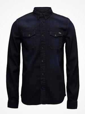Skjortor - Superdry Dragway L/S Denim Shirt