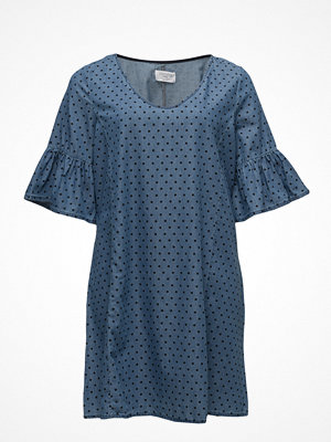Violeta by Mango Polka Dot Printed Denim Dress
