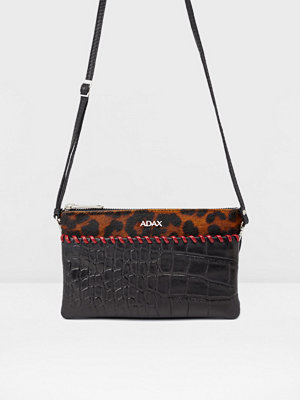 Adax svart mönstrad kuvertväska Rosello combi clutch