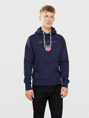 Street & luvtröjor - Gant Shield Hoodie Sweatshirt