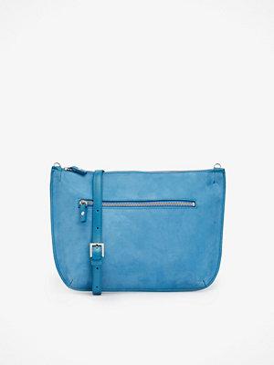 Whyred blå axelväska Ona Nubuck väska