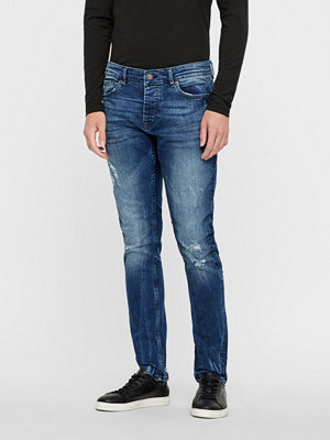 Jeans - Only & Sons Spun Blue Damage denim jeans